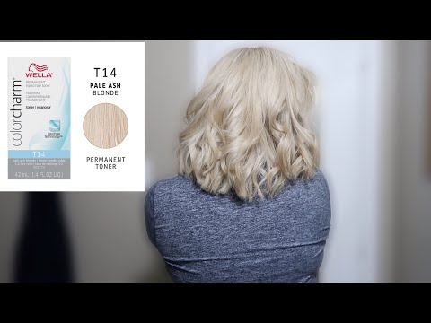 TONING BLEACHED HAIR AT HOME | WELLA T14
