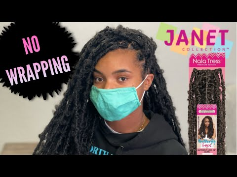 """24"""" Crochet Butterfly Locs  NO WRAPPING  Quick Method  Nala Tress Butterfly Locs by Janet Collection"""