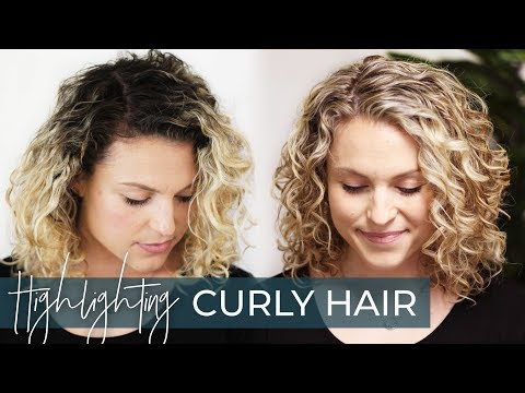 How to Highlight Curly Hair | My Favorite Blonde Highlighting Technique (with a Base Bump)