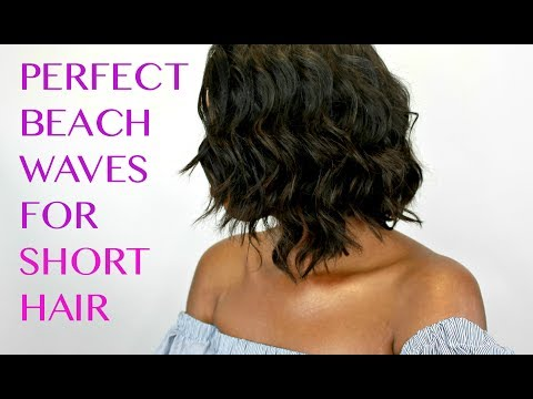HOW TO CREATE BEACH WAVES ON SHORT HAIR W/ CURLING WAND