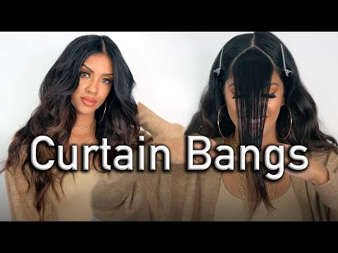 Cut and Style Curtain Bangs Like a Professional Hairdresser | DETAILED HAIR TUTORIAL | ARIBA PERVAIZ