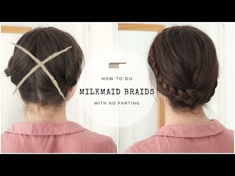 Milkmaid Braids With No Parting | Quick Tutorial
