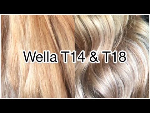 WELLA TONER T14 & T18   TONING MY HAIR