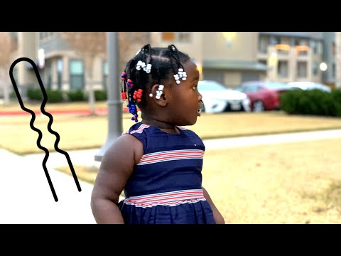 How to Add Beads to Braids using a Bobby Pin | Entertaining Hair Tutorials and Children Lullabies