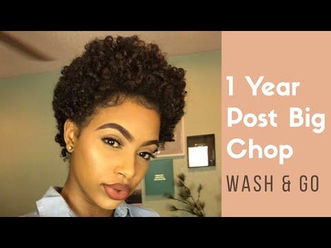 Wash n Go on TWA | 1 Year Post- Big Chop!