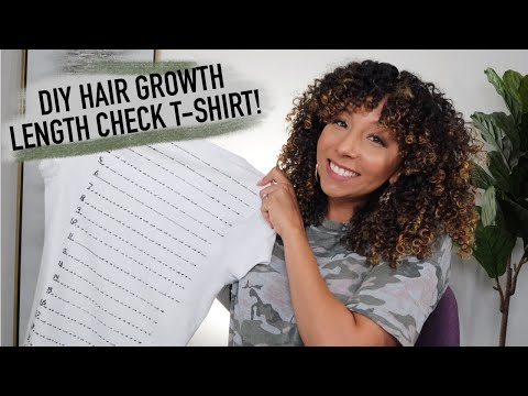 DIY Hair Growth Length Check T-Shirts! How long is my hair??   BiancaReneeToday