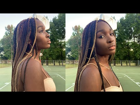 Multicolored Box Braids | Hair Tutorial | Krystal-Flora🌸