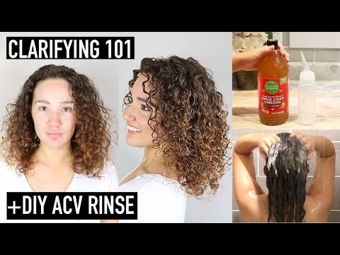 Clarifying Curly Hair: How to Clarify & Remove BuildUp + ACV Rinse