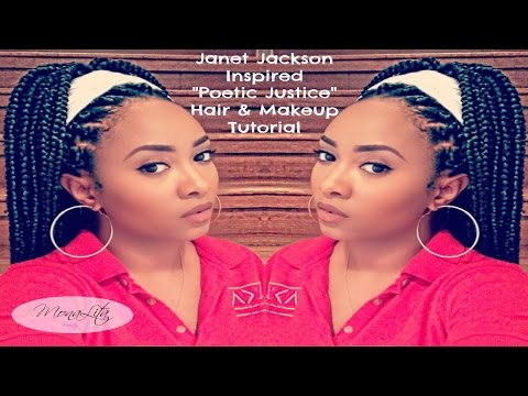 Janet Jackson | Poetic Justice Makeup & Braid Tutorial