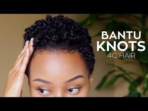 Short Natural Hair Routine TWA | Bantu Knots 4C Hair