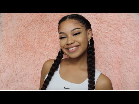 Insta Braids / Cornrows with Extensions - No Feed-In Method!!