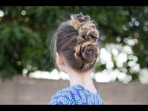 Triple Bun Updo | Homecoming Hairstyles | Easy DIY Hairstyle | Cute Girls Hairstyles
