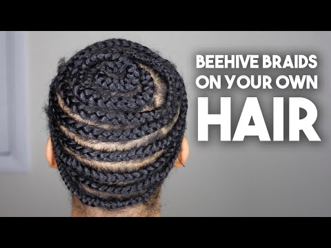 How To Do Beehive Braid Down on Your Natural Hair for Beginners NO LEAVE OUT Crochet, Sew In, Weaves