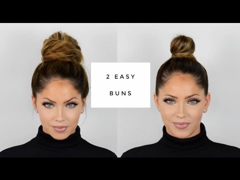 OLIVIA PIERSON Hair Tutorial | Two quick & easy buns