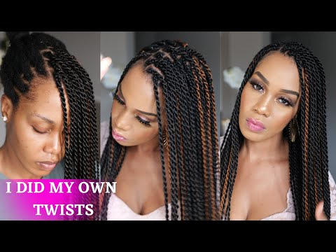 How To: DIY SENEGALESE TWISTS for BEGINNERS /Protective Style /Tupo1