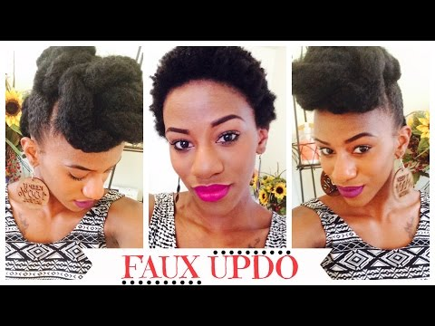 TWA   Faux Updo Protective Style