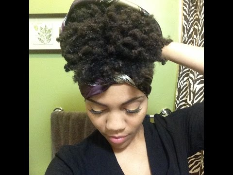 How To Pineapple Short Natural Hair - Night Routine