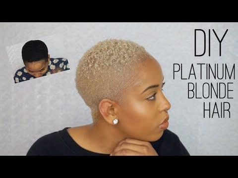 DIY BLEACHING | HOW TO BLEACH NATURAL HAIR PLATINUM BLONDE