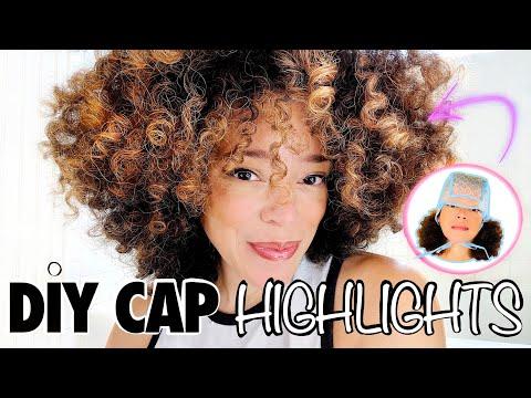 Highlight Natural, Curly Hair At Home - DIY Using a Cap!