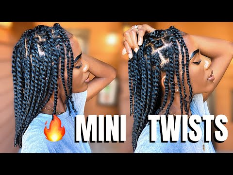 MINI TWISTS ON STRETCHED NATURAL HAIR - PERFECT PROTECTIVE STYLE