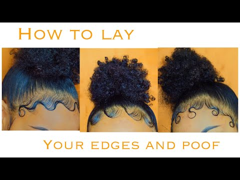 EDGES AND BUN TUTORIAL   How To Style Your Edges 3 Different Ways