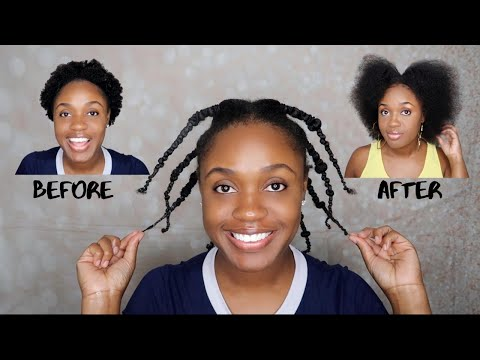 HOW TO STRETCH SHORT NATURAL HAIR WITHOUT HEAT | THE BANDING METHOD