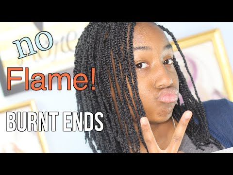 How to Burn Ends of Braid Extensions With No Flame