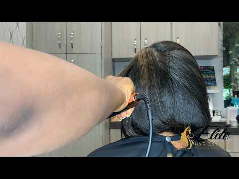 Highlights on natural hair   how to do a bobb Cut on natural hair