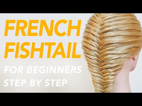 How To French Fishtail Braid Step by Step For Beginners [CC] | EverydayHairInspiration