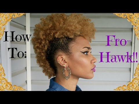 "HOW TO: ""FROHAWK""/MOHAWK ON 4B NATURAL HAIR"