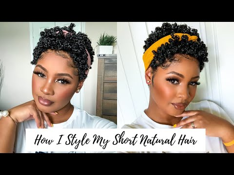 My 2021 TWA Routine   Defined Shiny Curls for Short Type 4 Natural Hair