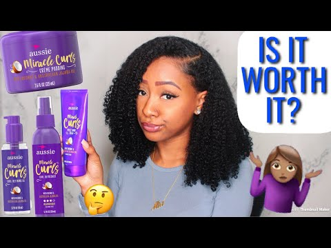 NEW AUSSIE MIRACLE CURLS PRODUCT REVIEW | IS IT WORTH IT??