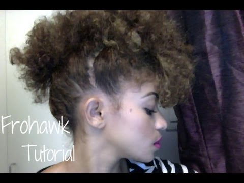 Frohawk Tutorial on Natural Hair