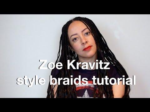 Zoe Kravitz quick wavy boho braids tutorial