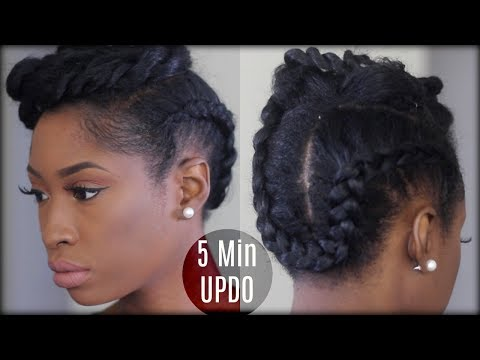 5 MINUTE TWIST BRAIDED UPDO | Natural Protective Hairstyles