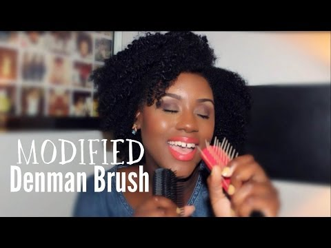 How to Modify a Denman Brush | Natural Hair Tools