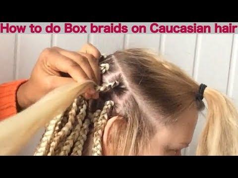 How to make box braids on Caucasian/straight hair