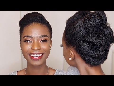 LOOK GOOD WITH YOUR NATURAL HAIR FOR VALENTINE! - EASY UPDO NATURAL HAIR STYLE