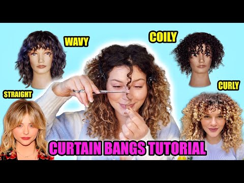 HAIRSTYLISTS GUIDE TO CUTTING YOUR OWN CURTAIN BANGS ON CURLY HAIR