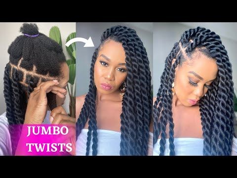 How To: DIY JUMBO TWIST RUBBER BAND METHOD / Beginner Friendly / Protective Style / Tupo1