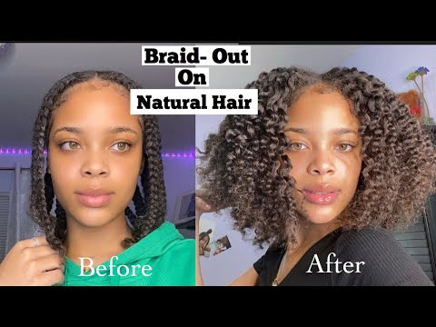 PERFECT BRAID-OUT TUTORIAL ON NATURAL HAIR | SUPER DEFINED CURLS
