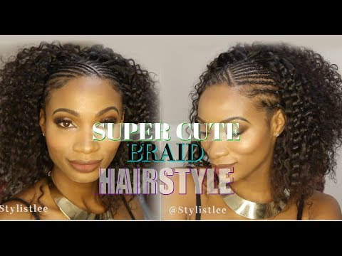 Best EASY #BraidStyle HALF Cornrows HALF Curly | Hair Makeover #6| Feat. Young Head Beats