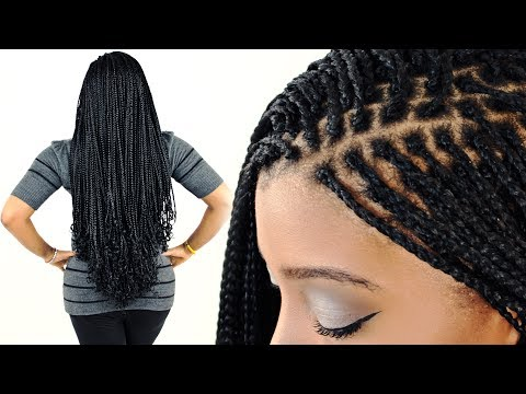 How To: MICRO BRAIDS For Beginners! (Step By Step)