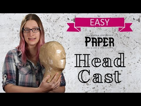 Easy DIY Head Casting with Paper Tape