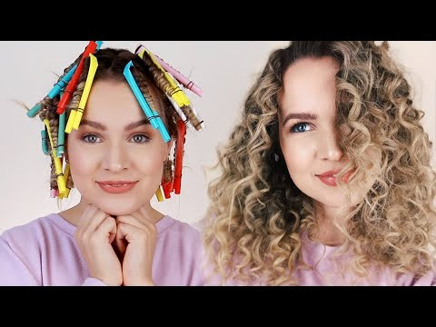 Straw Curls - Heatless Faux Curly Hair!