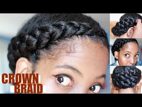 Effortless Crown Braid for Natural Hair | Protective Style
