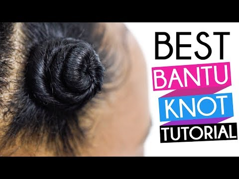 How To | Perfect Bantu Knots on Natural Hair & Transitioning Hair