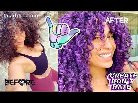 How I colored my brown hair PURPLE without bleach