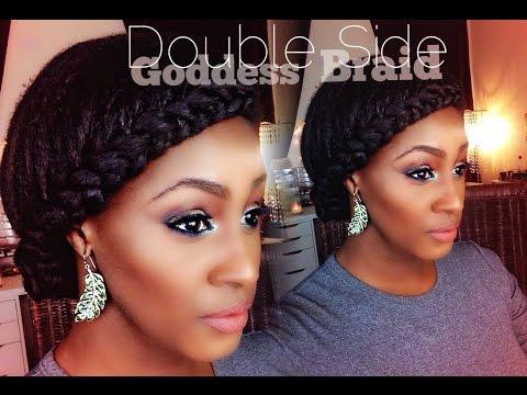 Double Sided Goddess Braids on short/medium length hair with Clip Ins