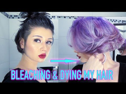 "BLEACHING & DYING MY HAIR PURPLE (DIY ""MASTERCLASS"")"
